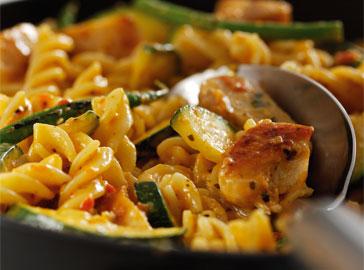 pasta kipcurry