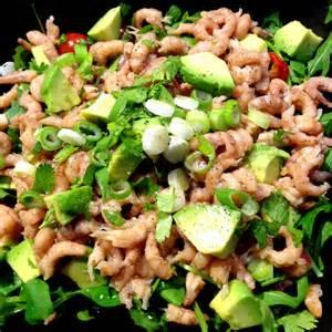 salade met grijze garnalen