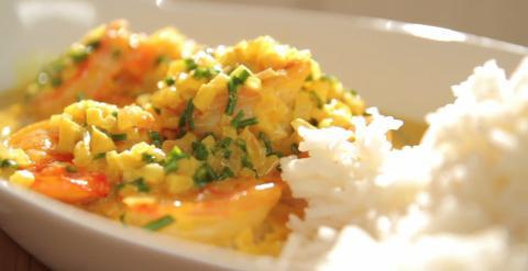 scampi curry rijst