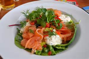 salade gerookte vis