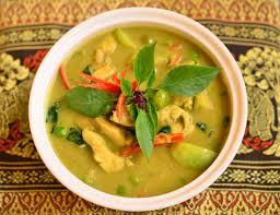 kip in groene curry